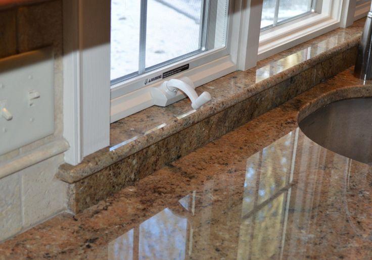 Die Granit Fensterbank kann farblich an Ihre Fassade abgestimmt oder auch im Innenbereich mit der Arbeitsplattenfarbe kombiniert werden.  http://www.granit-deutschland.net/granit-fensterbanke
