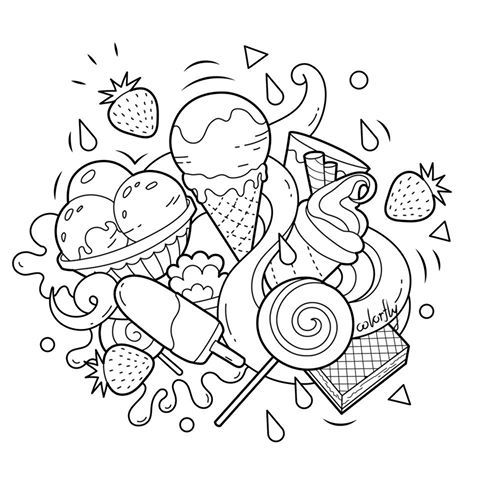 237 best coloring pages images on pinterest coloring for Sweet treats coloring pages