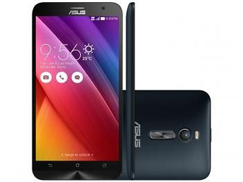 "Smartphone Asus ZenFone 2 32GB Preto Dual Chip - 4G Câm. 13MP + Selfie 5MP 5.5"" Full HD Quad Core"