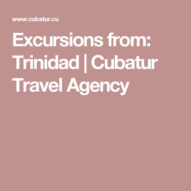 Excursions from: Trinidad |  Cubatur Travel Agency
