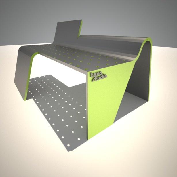Modus Furniture Urban Seating Storage Bench Natural Linen: Urban Furniture/Bench/Seating