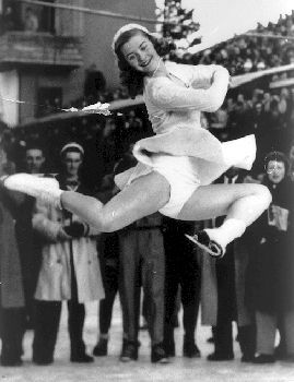 Scott, Barbara Ann    Scott endeared herself to Canadians in winning the 6 Feb 1948 Olympics figure-skating title at St Moritz (courtesy Canada's Sports Hall of Fame).