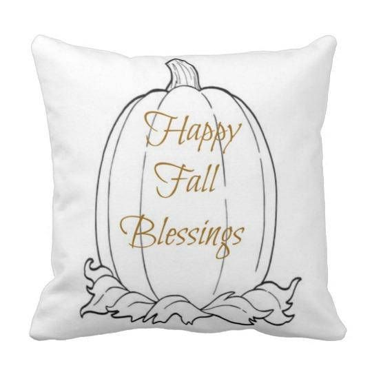 throw pillow autumn pillow cover happy fall blessings