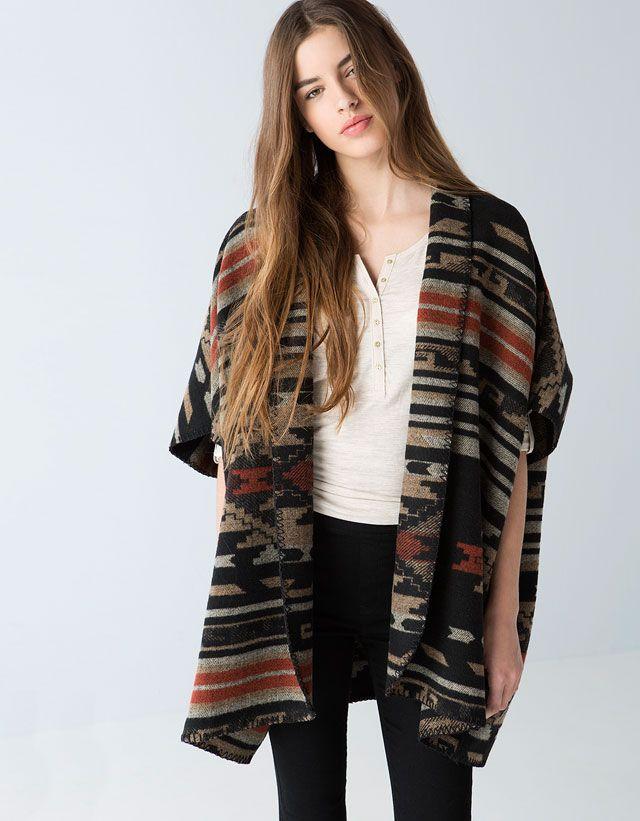 Ponchos & Kimonos - Bershka - Woman - Bershka United Kingdom