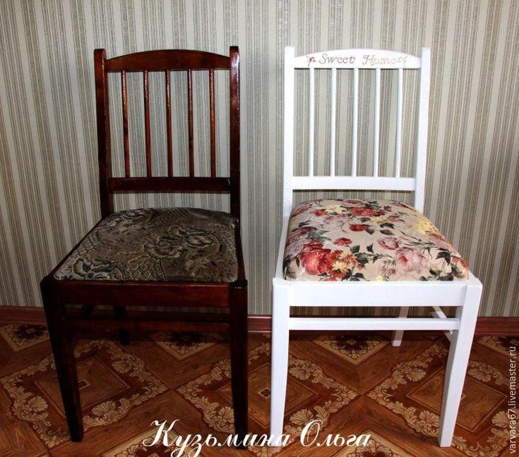 Обновляем старые стулья. Часть вторая: перетяжка - Ярмарка Мастеров - ручная работа, handmade