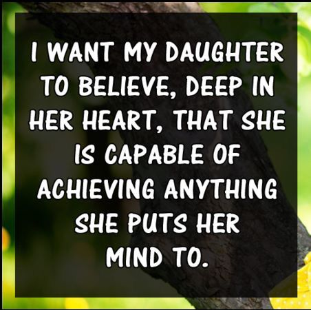 I want this for both of our girls, and I sincerely hope that you possess the courage to instill such values in them... I miss you girls. Your mom has obviously forgotten how badly she felt at not having her dad in her life... Common baby, chill out... Let me communicate with our girls...