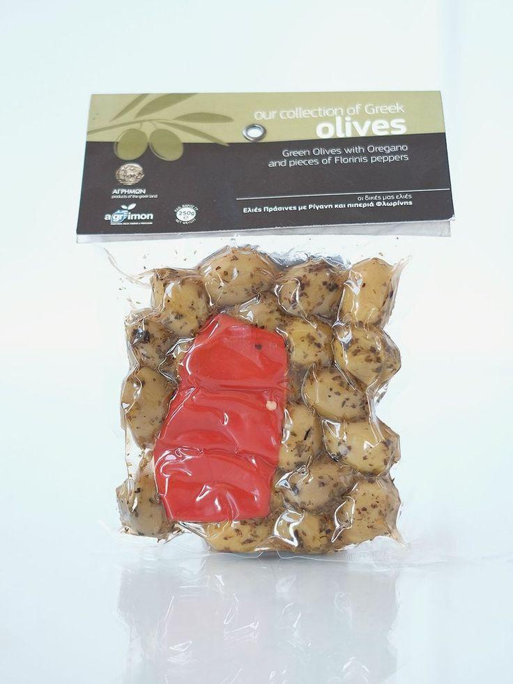 Agrimon Green Olives with Oregano