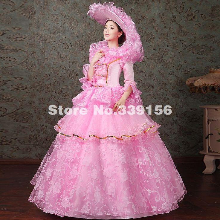 ホット販売ピンク/グリーン/ブルー/パープル花柄レース多層マリー·アントワネットガウンエレガントなロングパーティードレスのための女性(China (Mainland))