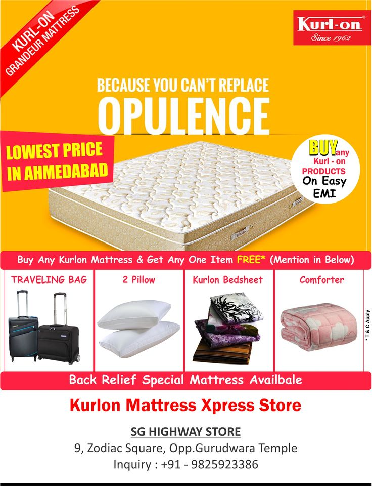 Pay Rs.1 & Get Mattress On Easy EMI Visit_Now Kurlon