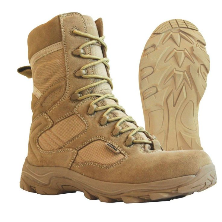 The Wellco Tan X-4ORCE combat boot T180 is a proven winner, and is performing in missions throughout the world. This boot is built to quickly get you from one place to the other on the battlefield. The X-4ORCE keeps your feet both cool and dry in extreme conditions. Your foot is supported on the lightweight low profile X-FORCE chassis, and the outsole is designed to rip through terrain to drive you to the finish line of your mission.