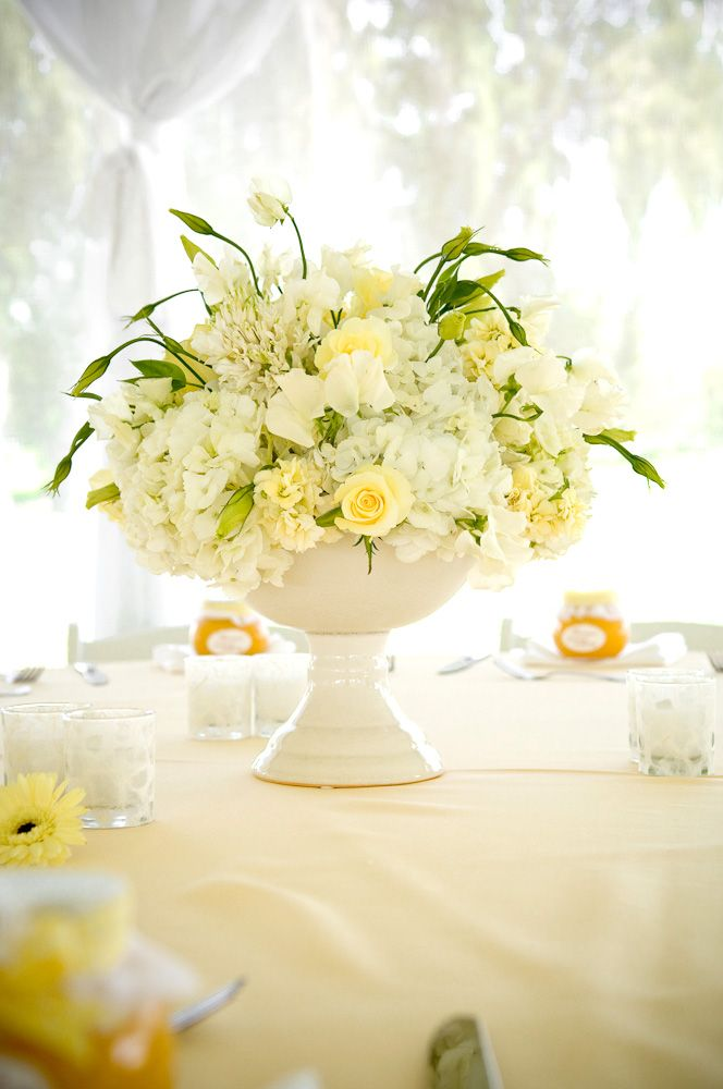 51 best lemon yellow wedding inspiration images on pinterest white and lemon yellow flowers make a lovely wedding reception table centrepiece by yvonne chapman junglespirit Gallery