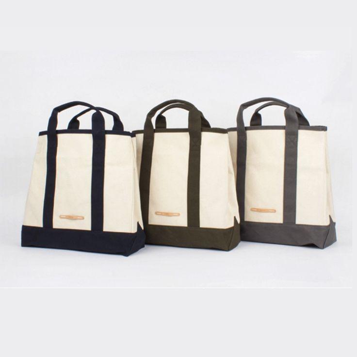 RAWROW Tote Bag Women Men Casual Fashion Shoulder Bag Canvas Strap Snap Button #RAWROW #ToteShoulderBag