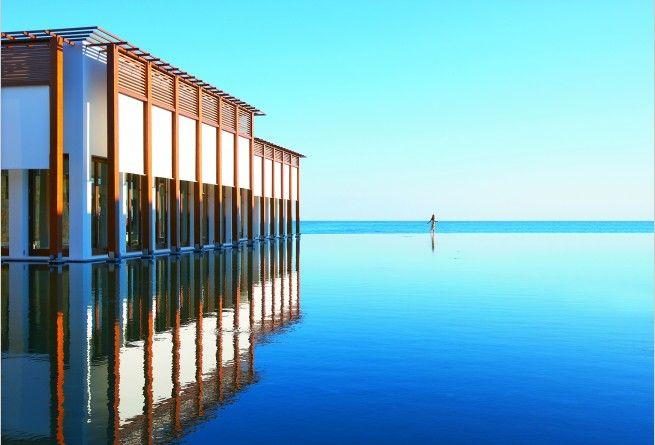 Hotel exterior AMIRANDES   Crete, Greece