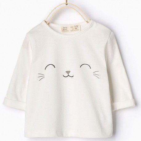 zara fehér cicás felső. #ckf #coolkids #kidsfashion #kidsclothes #gyerekruha #zara #cat #cica #macska