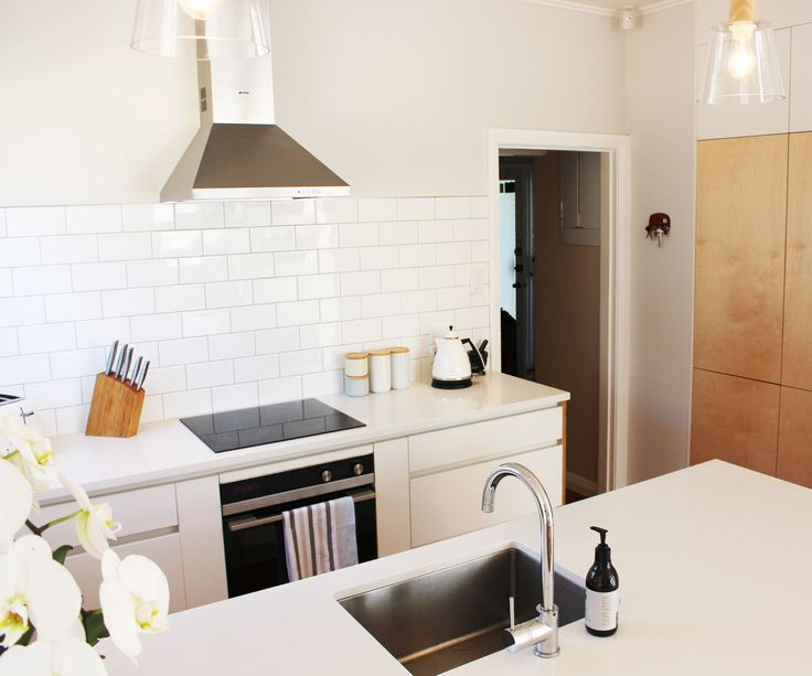 A cramped, u-shaped kitchen gets a Scandinavian inspired makeover