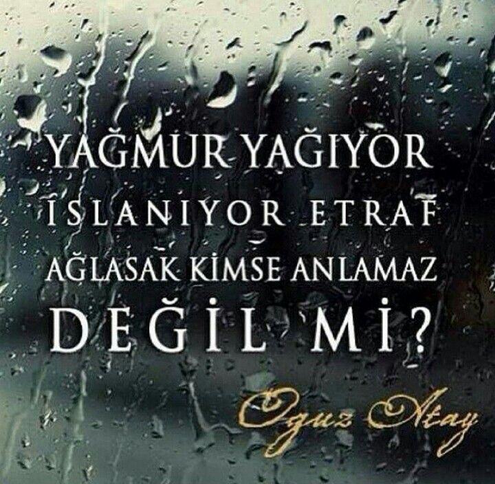 Yağmur yağıyor, ıslanıyor etraf.. Ağlasak, kimse anlamaz, değil mi? #Aşk #Sevgi