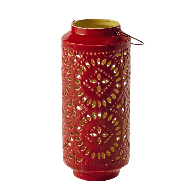 Lanterna rossa in metallo H 41 cm ...