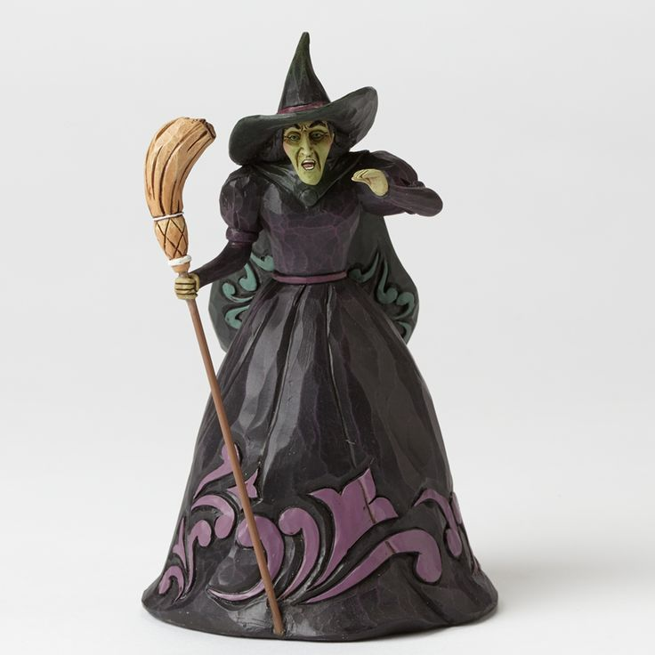 Jim Shore WICKED WITCH 4044762 Green Wizard Oz Broom