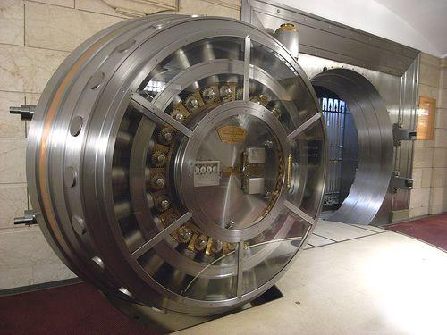 vault door into the movie theatre
