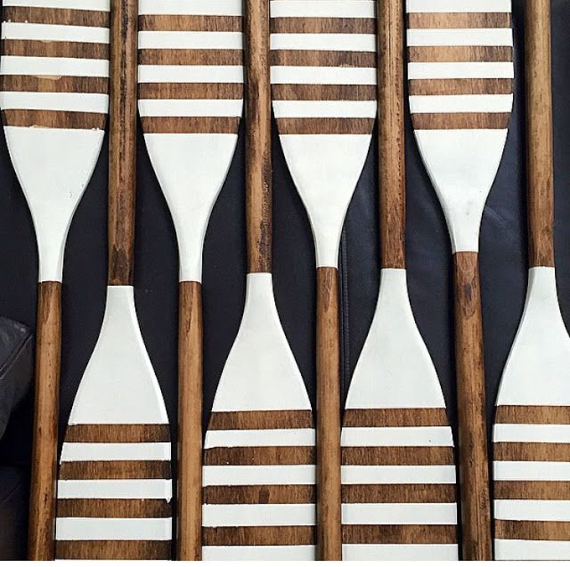 Oars Galore - very cool on black wall!