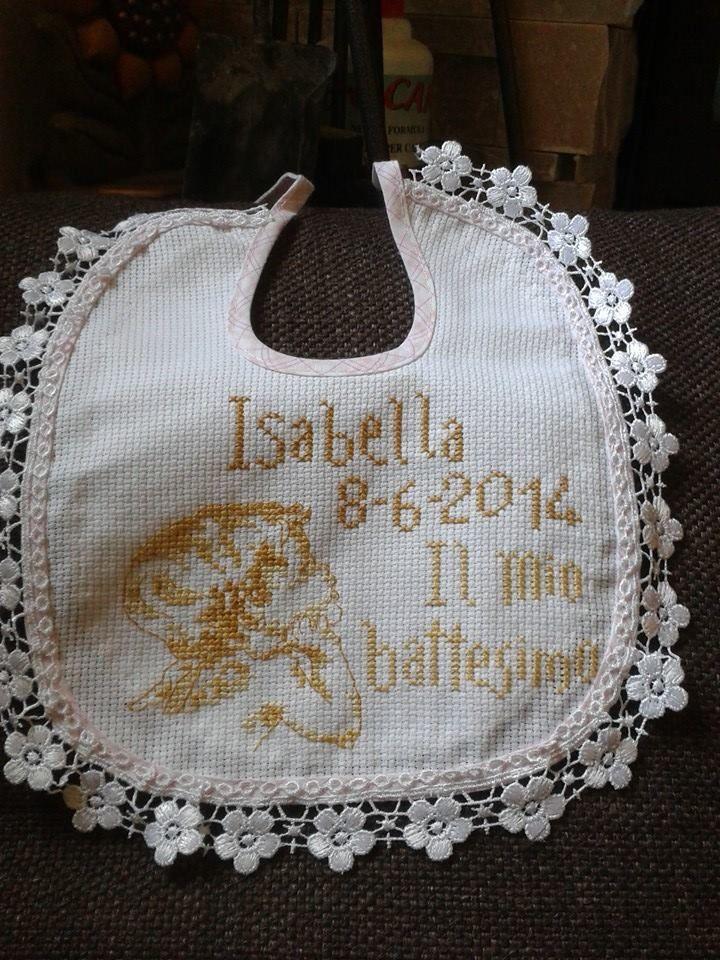 bavaglino battesimo Isabella