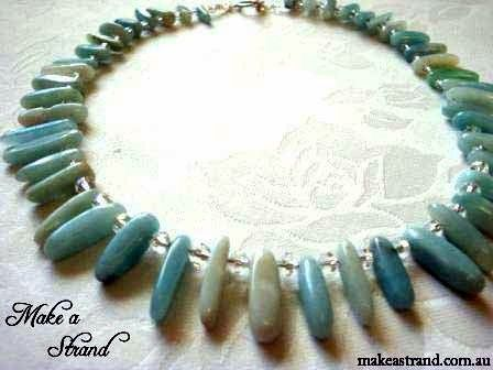 Amazonite spikes are complemented by clear crystals in this elegant choker In stock: AU$140+ postage