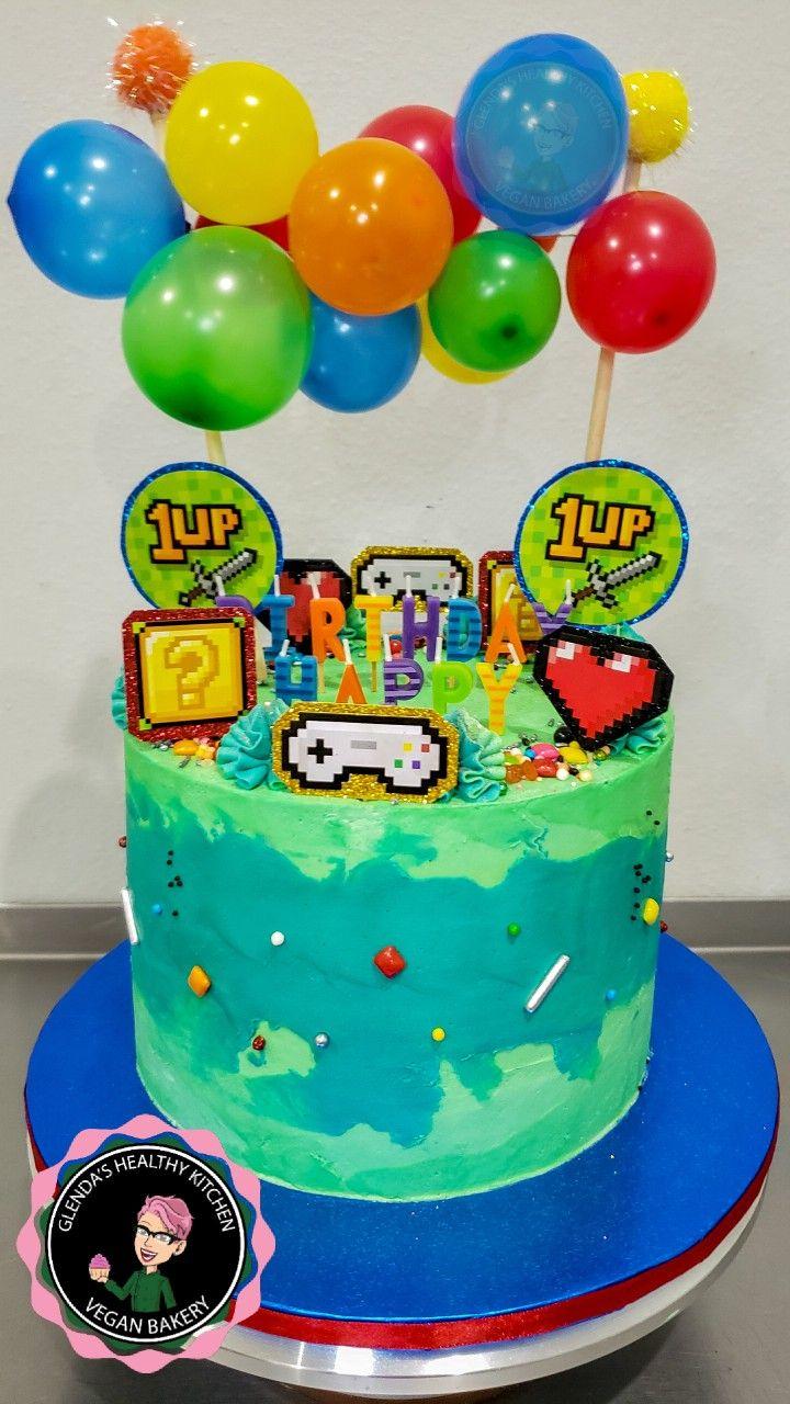 Gaming birthday cake gamingcake vegan birthday cake