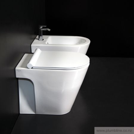 Zero 55 Floor Mount Toilet With Slim Seat - Toilets & Bidets - Bathroom