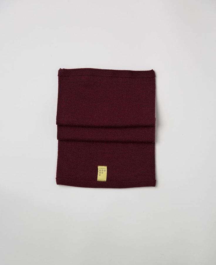 Findra merino merlot red wool snood from The Cycling Store