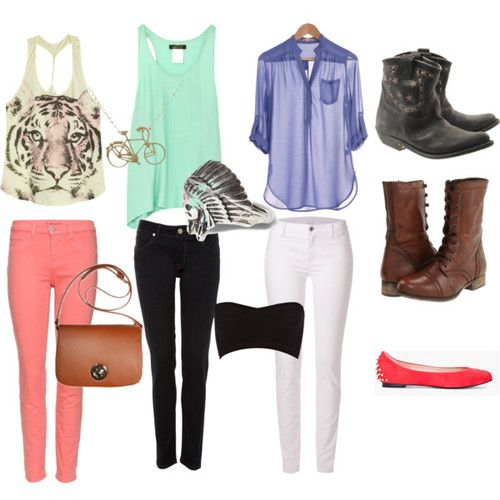 not a fan of some of the items, but still pretty cute outfits for a quick weekend getaway. #polyvore  #spring #summer