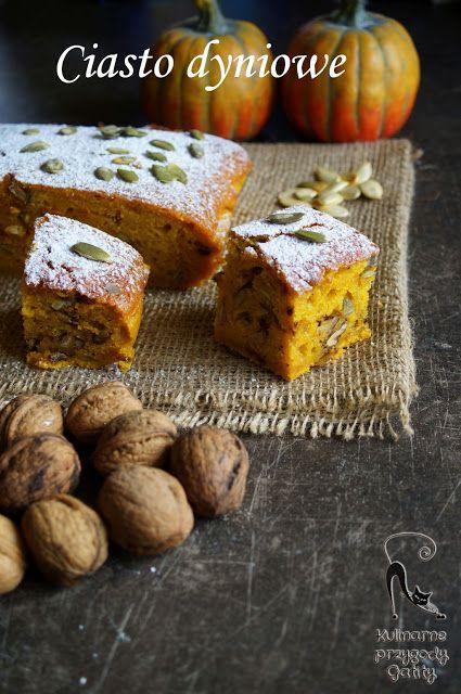Kulinarne przygody Gatity: Korzenne ciasto dyniowe z orzechami