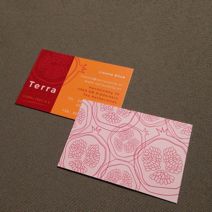 Studio Neeltje   Business Cards for 'Terra Santa Global Fruits B.V.' #identitydesign #businesscards
