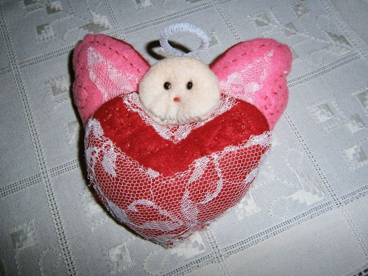 Lia B. Creations: Red heart Angel