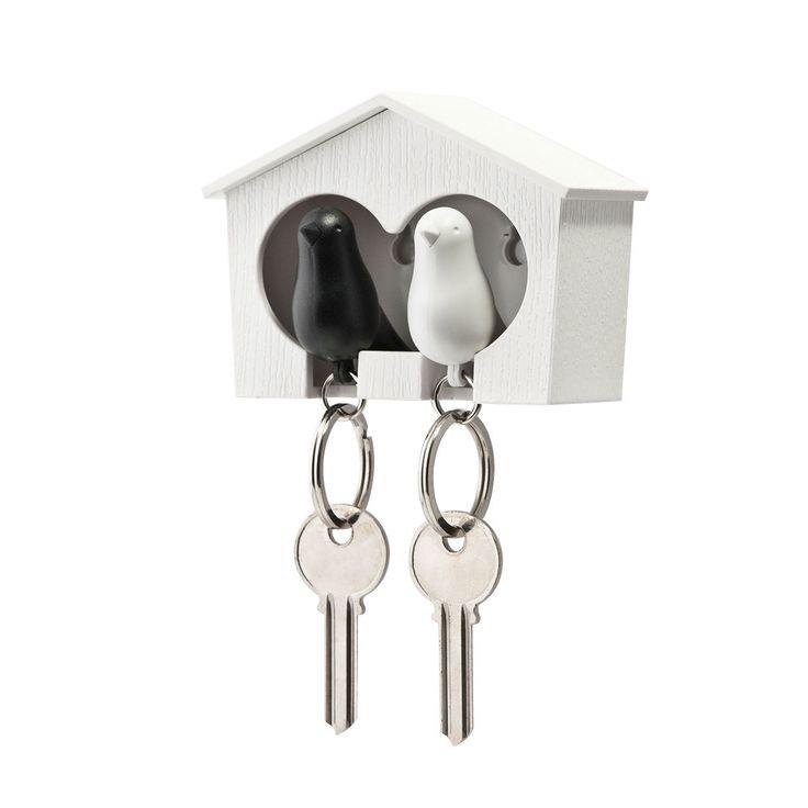 Articolo: QL10124WHBK_Parent skuPasserotto duo è un portachiavi da parete, realizzato in plastica e ferro, molto indicato per riuscire a tenere in ordine le chiavi. La particolare struttura è in grado di donare originalità e creatività all'ambiente domestico garantendo allo stesso tempo di conservare le chiavi sempre a portata di mano. La collezione di Qualy, della quale fa parte Passerotto duo, è stata infatti creata appositamente per realizzare oggetti molto funzionali, ma con un grande…