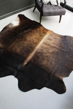 Natural Cowhide Rug - Dark Mahogany Brown by Rockett St George #ScandiStyle #Scandi #Living #Scandinavian #Hygge #Home #Inspiration #living #Interiors #Decor