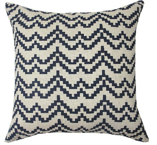 Hot Australia Navy Blue Wave pattern cushion cover Blue cotton Pillow Cushion Home Decorative sofa cushions 45*45cm US $16.49