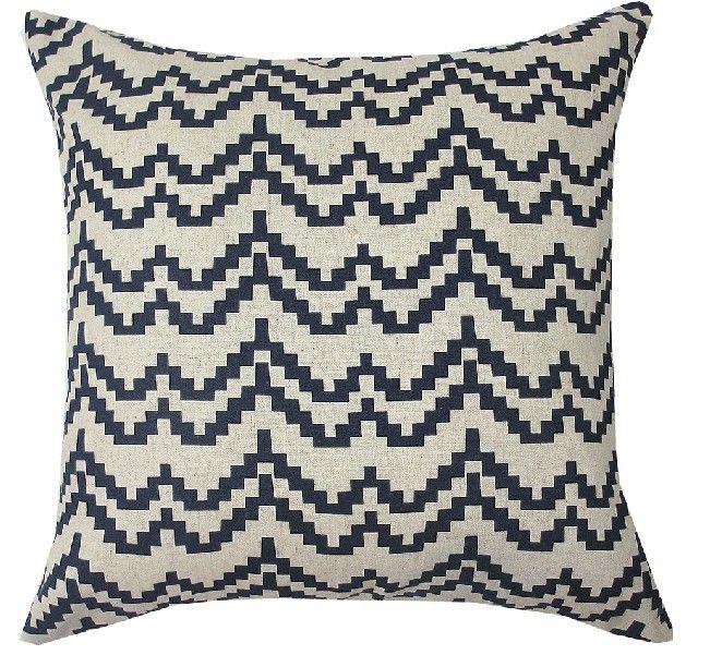 Hot Australia Navy Blue Wave pattern cushion cover Blue cotton Pillow Cushion Home Decorative sofa cushions 45*45cm US $16.49
