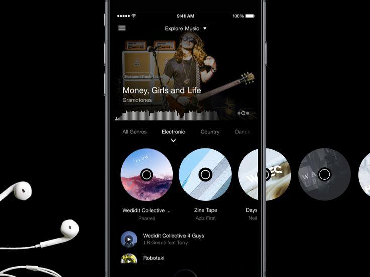 Music exploration for feels app by Oykun Yilmaz - Dribbble