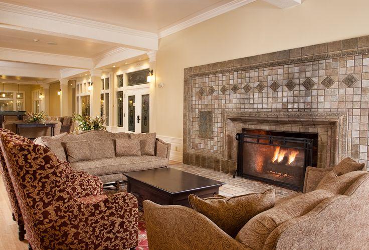 Lake Yellowstone Hotel Lobby Fireplace