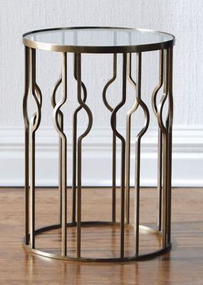 Mia Table Fro Grand In Road. Iron And Glass With A Bronze Finish