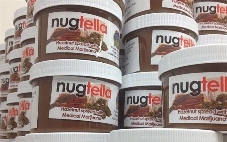 A Nugtella (produto da Nutella) mescla o famoso creme de chocolate e avelã com 320 miligramas de óleo de haxixe encontrado na planta cannabis...