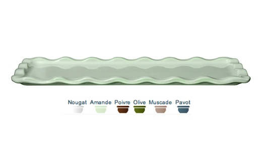 Loaf plate. 36x15x1 cm. Our loaf plate in the Natural Chic collection enhances the presentations of your cakes but also your buffets and cocktails. The glaze is highly resistant and you can cut directly on it without any risk of scratches.  Call 905·885·9250.