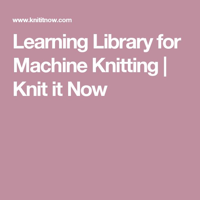 Learn How to Knit   Caltech