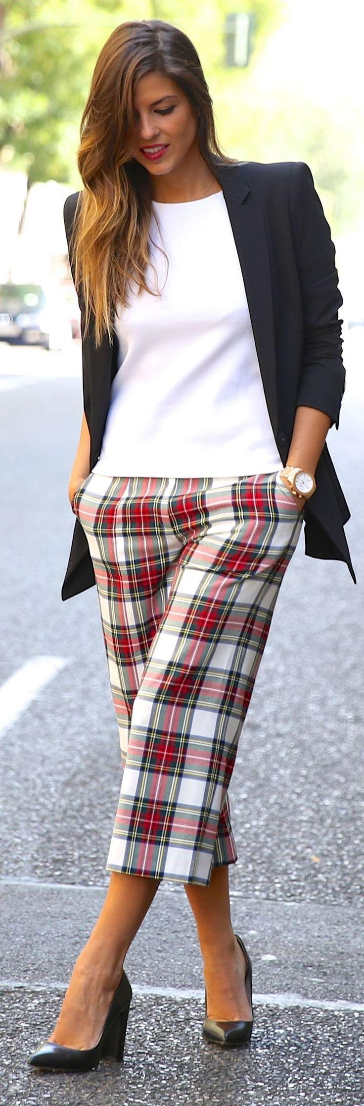 Multi Tartan Culottes by TrendyTaste