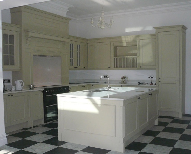 Bespoke Painted Kitchen in Farrow & Ball Bone. KB Store Trade.