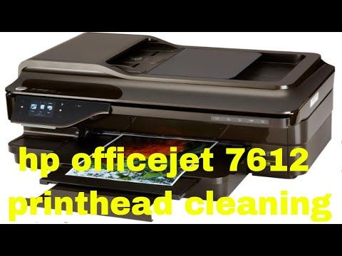 hp Officejet 7612 printhead cleaning | how to fix | Hp
