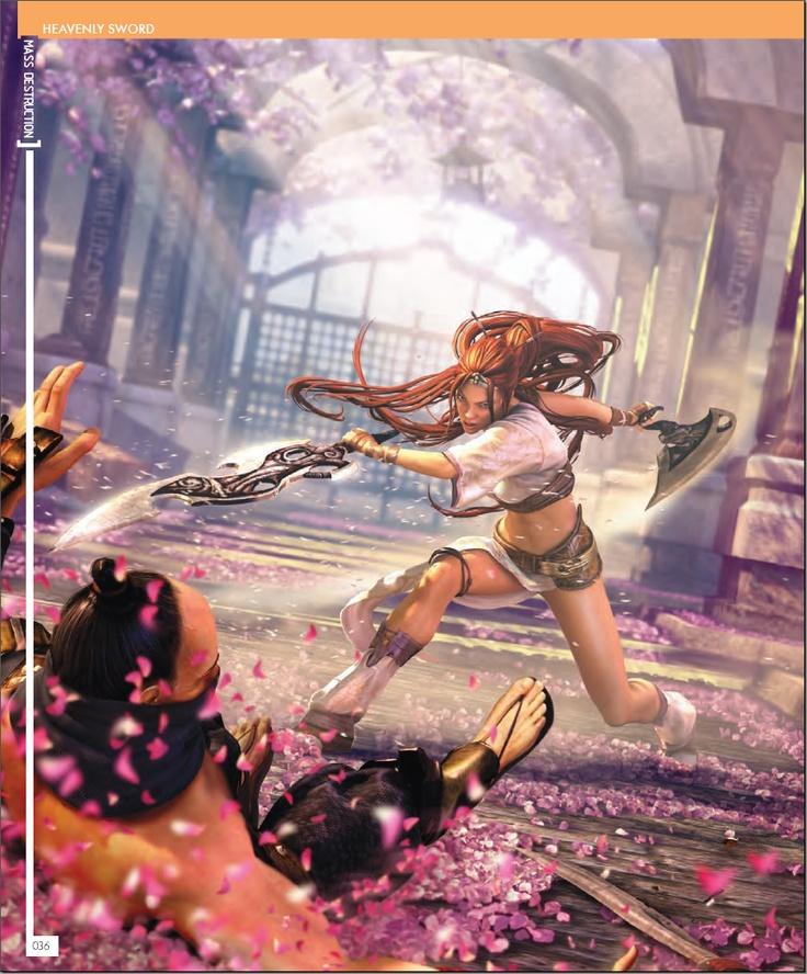 Girls of Gaming 5 - Heavenly Sword - http://www.megalextoria.com/magazines/index.php?twg_album=Video_Game_Magazines%2FGirls_of_Gaming%2FGog5_show=Girls+of+Gaming+5+-+Page+038.jpg