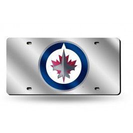 Winnipeg Jets NHL Laser Etched License Plate/Tag (Silver)