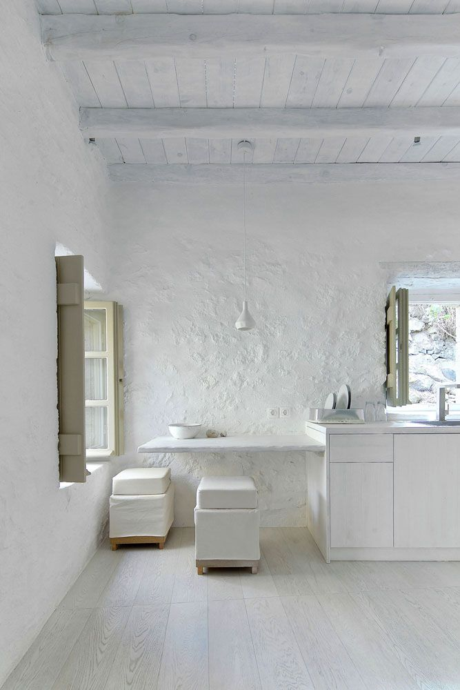 Inspiration from Bathrooms.com: traditional greek wall texture