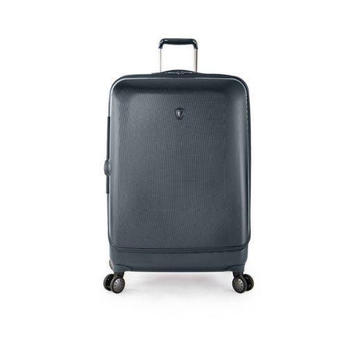 """Heys Portal Luggage 30"""" Large Suitcase Hardcase Slate Blue Spinner TSA Expands"""